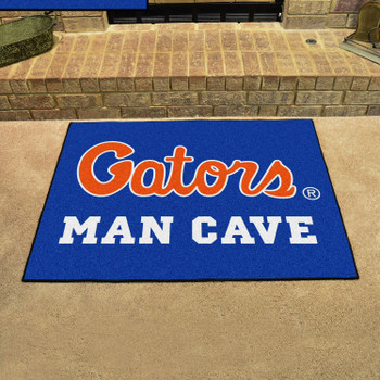 "33.75"" x 42.5"" University of Florida Blue Man Cave All-Star Rectangle Mat"