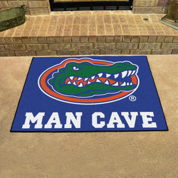 "33.75"" x 42.5"" University of Florida Gators Blue Man Cave All-Star Rectangle Mat"