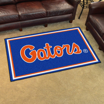4' x 6' University of Florida Blue Rectangle Rug