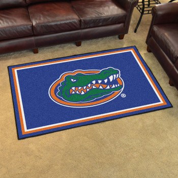 4' x 6' University of Florida Gator Logo Blue Rectangle Rug