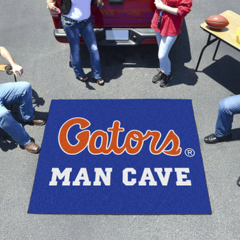 "59.5"" x 71"" University of Florida Blue Man Cave Tailgater Rectangle Mat"