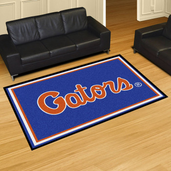 5' x 8' University of Florida Blue Rectangle Rug