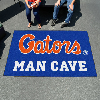 "59.5"" x 94.5"" University of Florida Blue Man Cave Rectangle Ulti Mat"