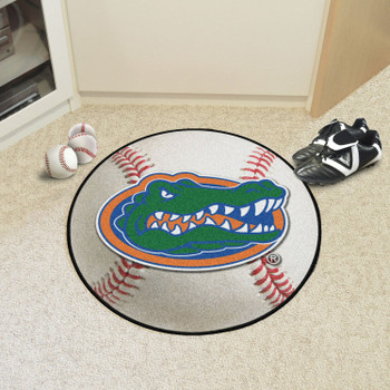 "27"" University of Florida Gators Baseball Style Round Mat"