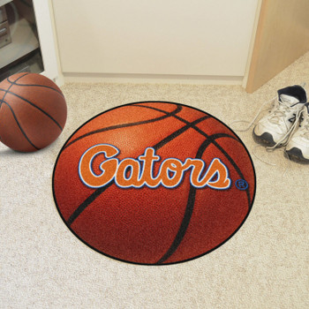 "27"" University of Florida Orange Basketball Style Round Mat"