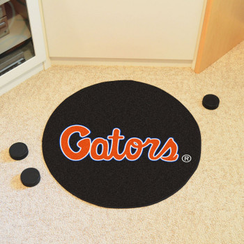 "27"" University of Florida Puck Round Mat - ""Gators"" Wordmark"
