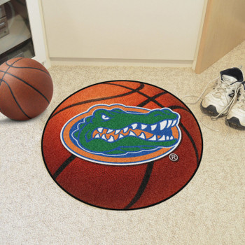 "27"" University of Florida Gators Orange Basketball Style Round Mat"