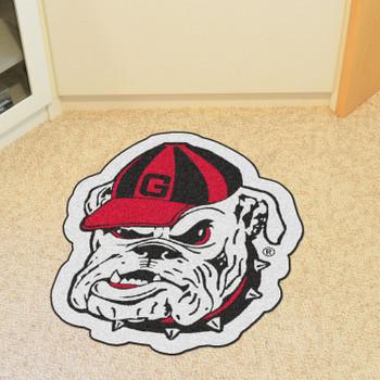 """University of Georgia Mascot Mat - """"Bulldog"""" Logo"""