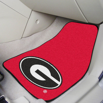 University of Georgia Red Carpet Car Mat, Set of 2