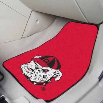 University of Georgia Bulldog Carpet Car Mat, Set of 2