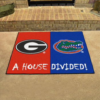 "33.75"" x 42.5"" Georgia / Florida House Divided Rectangle Mat"