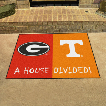 "33.75"" x 42.5"" Georgia / Tennessee House Divided Rectangle Mat"