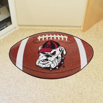 "20.5"" x 32.5"" University of Georgia Football Shape Mat"