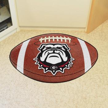 """20.5"""" x 32.5"""" University of Georgia Bulldog Logo Football Shape Mat"""