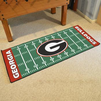 """30"""" x 72"""" University of Georgia Football Field Rectangle Runner Mat"""