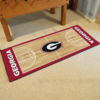 "30"" x 72"" University of Georgia NCAA Basketball Rectangle Runner Mat"