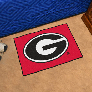 "19"" x 30"" University of Georgia Red Rectangle Starter Mat"