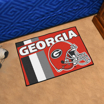 "19"" x 30"" University of Georgia Uniform Red Rectangle Starter Mat"