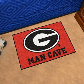 "19"" x 30"" University of Georgia Red Man Cave Starter Rectangle Mat"