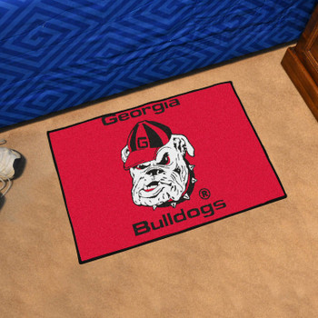 "19"" x 30"" University of Georgia Bulldogs Red Rectangle Starter Mat"
