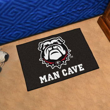 "19"" x 30"" University of Georgia Black Man Cave Starter Rectangle Mat"