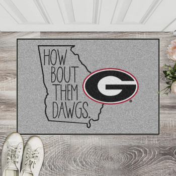 "19"" x 30"" University of Georgia Southern Style Gray Rectangle Starter Mat"