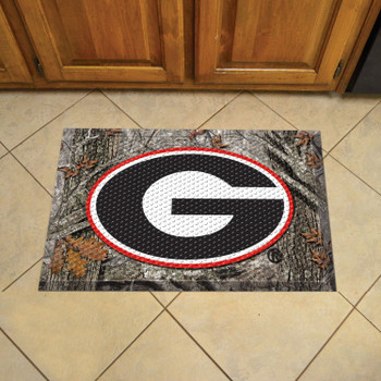 "19"" x 30"" University of Georgia Rectangle Camo Scraper Mat - ""G"" Logo"