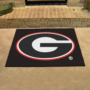 "33.75"" x 42.5"" University of Georgia All Star Black Rectangle Mat"