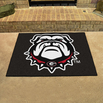 "33.75"" x 42.5"" University of Georgia Bulldog All Star Black Rectangle Mat"