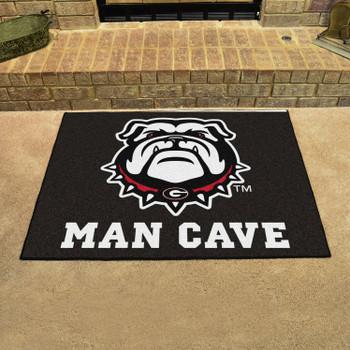 "33.75"" x 42.5"" University of Georgia Black Man Cave All-Star Rectangle Mat"