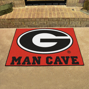 "33.75"" x 42.5"" University of Georgia Red Man Cave All-Star Rectangle Mat"