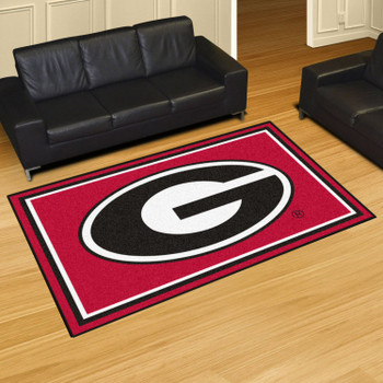 5' x 8' University of Georgia Red Rectangle Rug