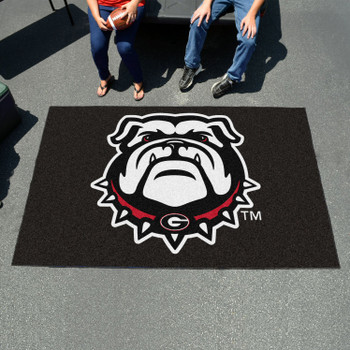 "59.5"" x 94.5"" University of Georgia Black Rectangle Ulti Mat"