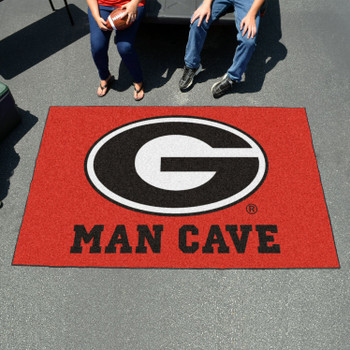 "59.5"" x 94.5"" University of Georgia Red Man Cave Rectangle Ulti Mat"