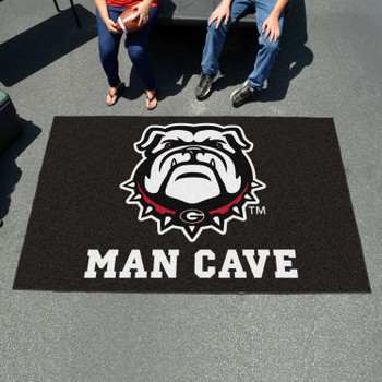 "59.5"" x 94.5"" University of Georgia Black Man Cave Rectangle Ulti Mat"