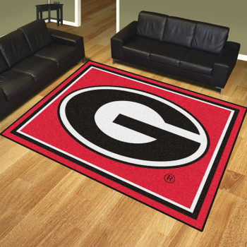 8' x 10' University of Georgia Red Rectangle Rug