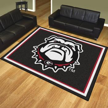 8' x 10' University of Georgia Black Rectangle Rug