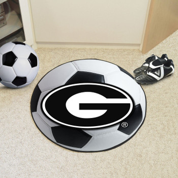 "27"" University of Georgia Soccer Ball Round Mat"