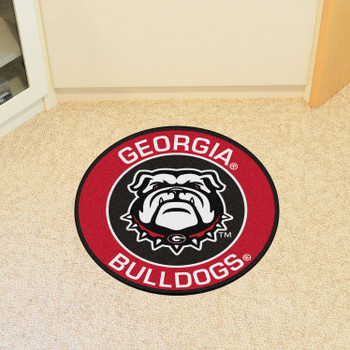"27"" University of Georgia Bulldog Logo Roundel Round Mat"