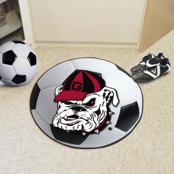 "27"" University of Georgia Bulldogs Soccer Ball Round Mat"