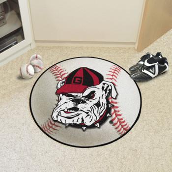 "27"" University of Georgia Bulldogs Baseball Style Round Mat"