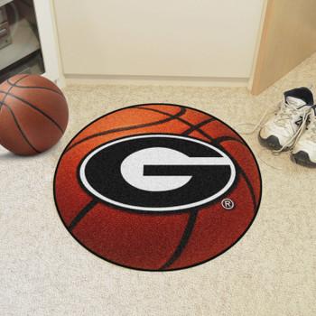 "27"" University of Georgia Orange Basketball Style Round Mat"