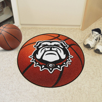 "27"" University of Georgia Bulldogs Orange Basketball Style Round Mat"