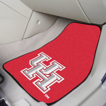 University of Houston Red Carpet Car Mat, Set of 2