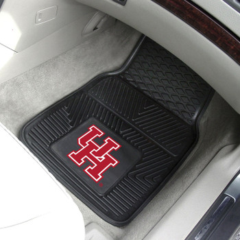 University of Houston Heavy Duty Vinyl Front Black Car Mat, Set of 2