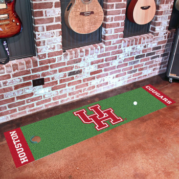 "18"" x 72"" University of Houston Putting Green Runner Mat"
