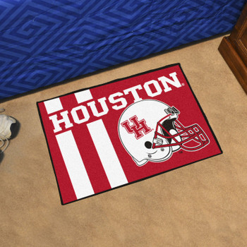 "19"" x 30"" University of Houston Uniform Red Rectangle Starter Mat"
