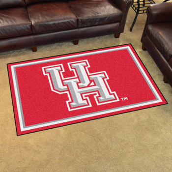 4' x 6' University of Houston Red Rectangle Rug