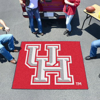 "59.5"" x 71"" University of Houston Red Tailgater Mat"