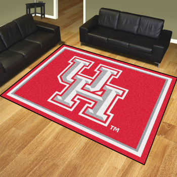 8' x 10' University of Houston Red Rectangle Rug